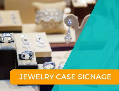 Using Signage in your Jewelry Cases