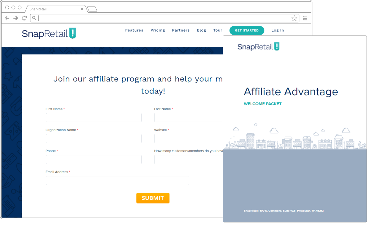 Become a SnapRetail affiliate and help your small businesses grow