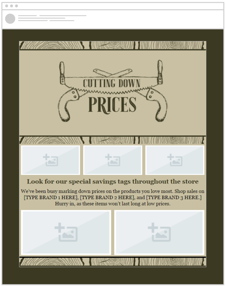 Easily send store emails with our pre-made templates