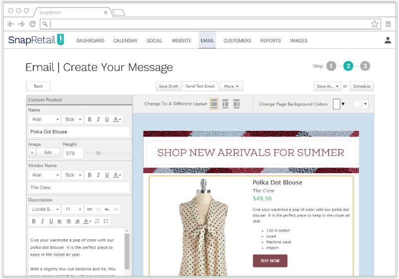 Target your customers by sending marketing emails based on buying behavior with SnapRetail and Shopify