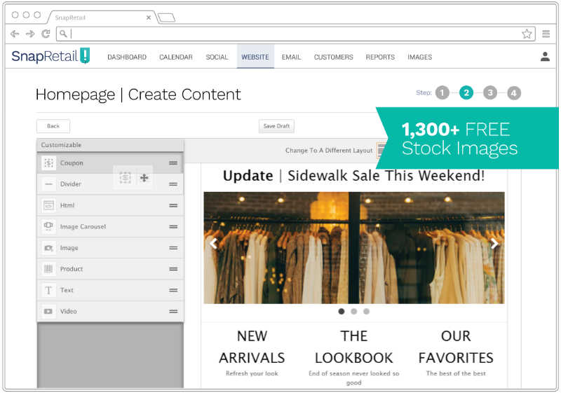 Update your website with our drag-and-drop editor to make it easier to update your small business