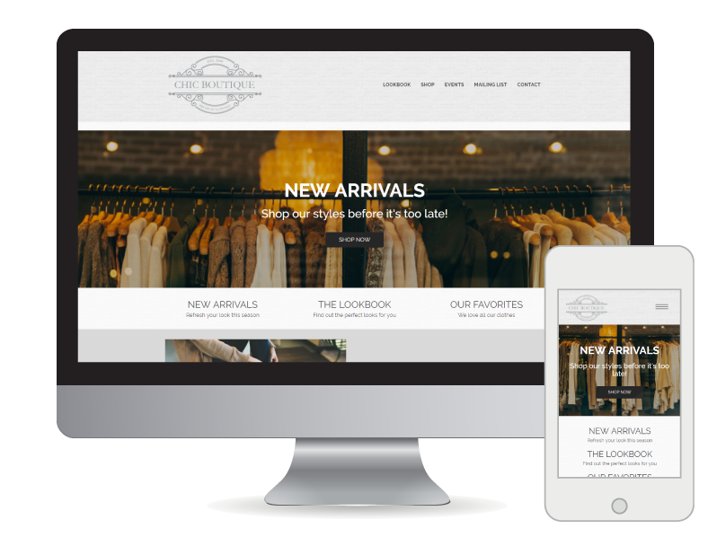 A fully mobile responsive website for your small business