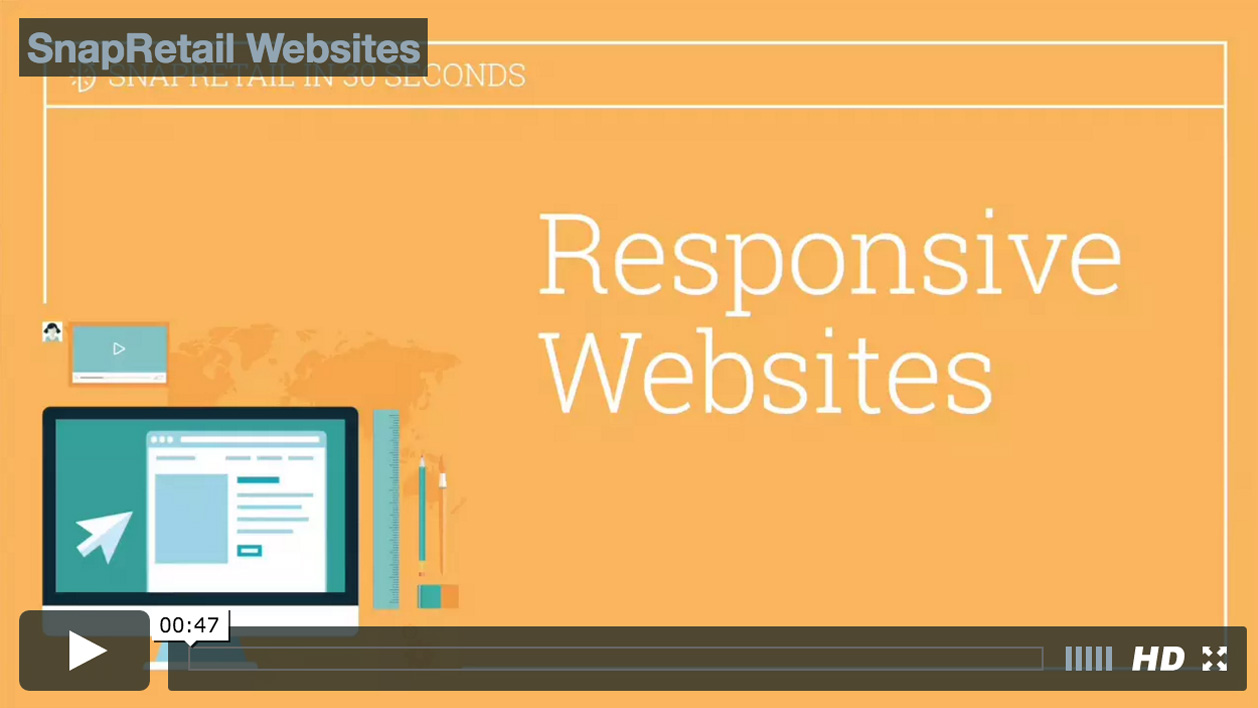 Mobile friendly responsive website from SnapRetail for your small business
