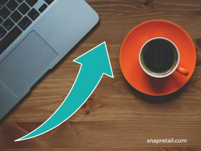 increase online marketing computer with coffee