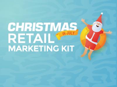 santa christmas in july marketing kit