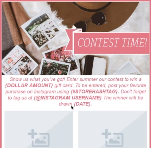 contest email for small business