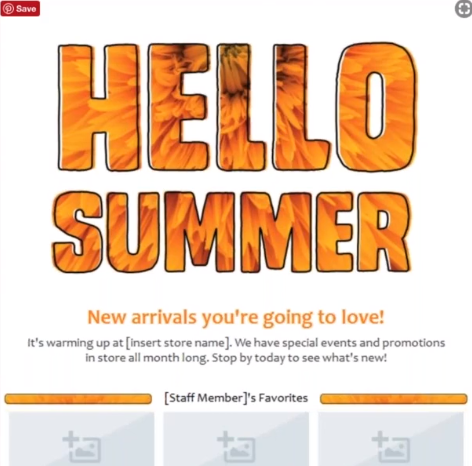 summer email templates and newsletters