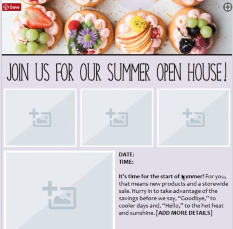 Summer Open House Email Design SnapRetail