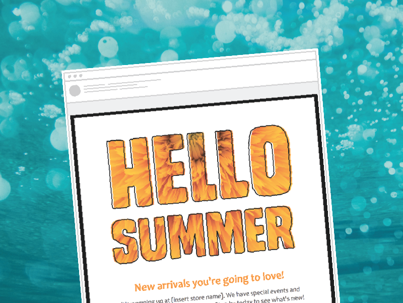 Hello summer email template