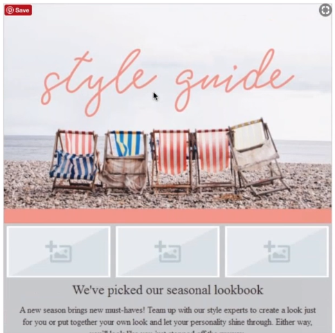 summer style guide email for small business