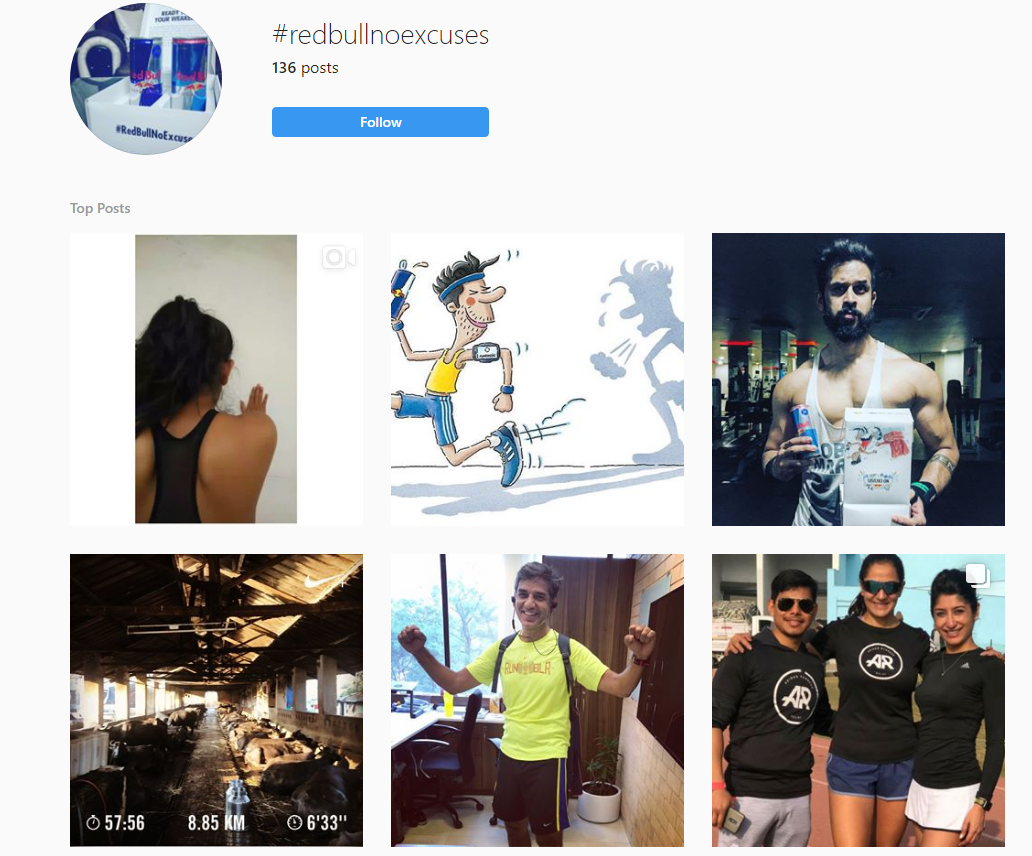 hashtags instagram example
