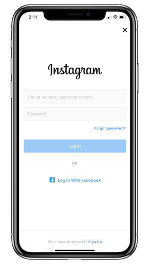 Instagram Profile Set Up 1 - Create an Account