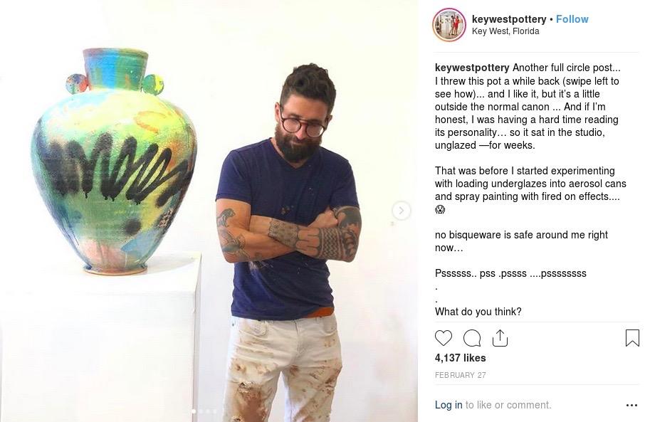 keywestpottery instagram post