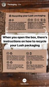 packaging instagram story