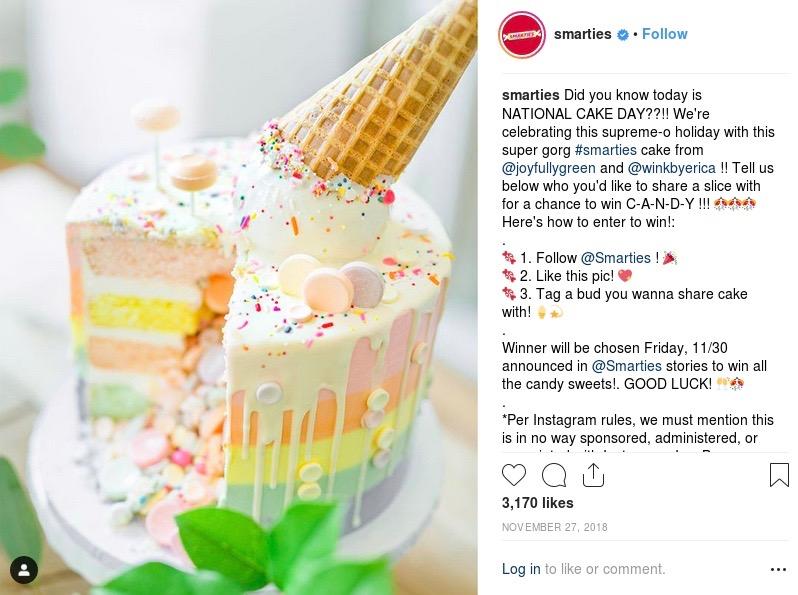 smarties instagram post